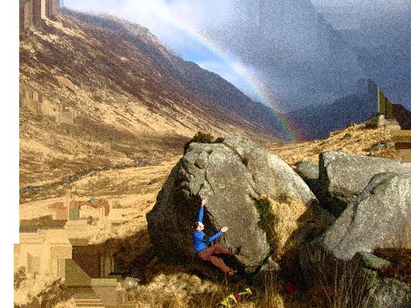 Arrampicata su boulder
